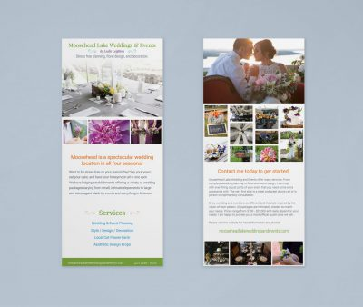Moosehead Lake Weddings & Events Rack Card